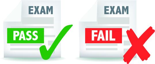 exam test pass or fail icon
