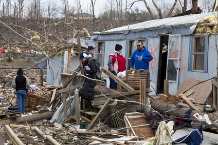 Tornado aftermath in Henryville, Indiana