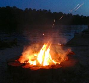 Campfire on Lake
