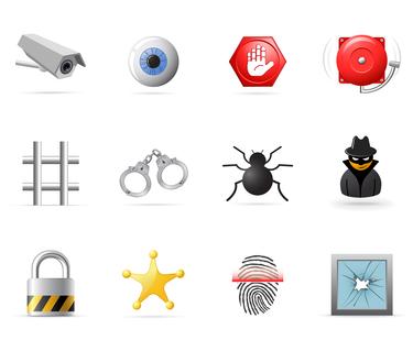 Punishment Security Icons