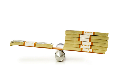 Financial concept - balancing economy
